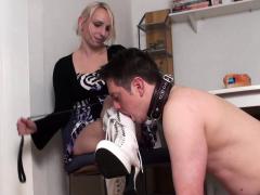 femdom-fetish ladies order guys to lick their shoes سكس محارم ,جماعى ,سكس