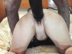 colossal dildo fuck and fisting amateur wife