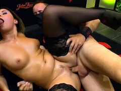 group banged cumshots and bukkakes on czech kattie hill