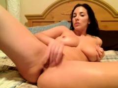 american slut with monster boobs masturbate