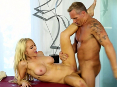 tittyfucked babe gets plowed at sweet parlor
