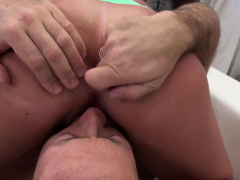 Sexy Brunette Gets Her Pussy Licked And Fucked By Rocco