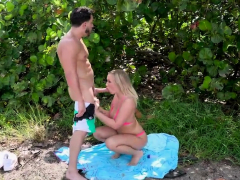 big booty blonde with juicy boobs gets public fucking