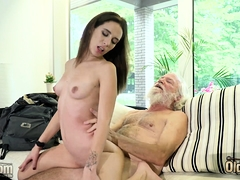 young babe has sex with old boyfriend
