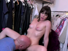 Hot Brunette Teen Spread Her Legs Exposing Her Pussy For Dad