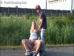 Public Group Sex With A Hot Pretty Girl In Broad Daylight