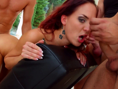 Lien Parker group bukkake blowbang swallow scene by Cum For
