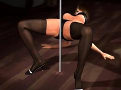 Busty Japanese striptease