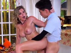 Milf rides huge cock Gobble On The Pussy Not The Pie