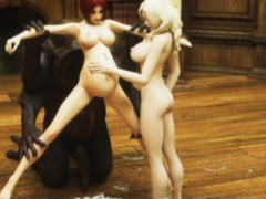 3D Vampire Girls Wrecked by Creatures!