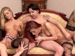 Reverse FFFM ANAL Group Sex for Big Dick Guy with Cute Teens