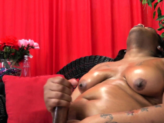 Curvy Shemale Wanking And Stripping Down