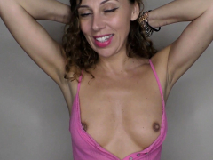 big-tits-brunette-with-downblouse-talking-on-the-phone