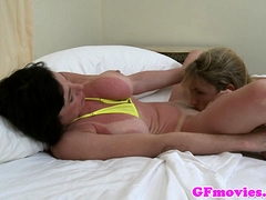 Sunkissed Mature Lesbians Lick Each Other