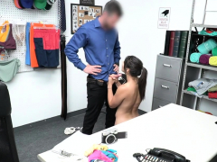 gorgeous bitch shoplifter throats and penetrated by store officer