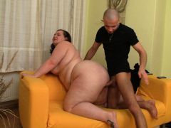 chunky big ass bbw picked up and penetrated from behind