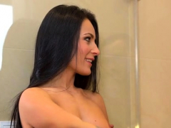 Lusty European Hottie Mindy Joins Her Man In The Shower To