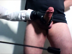 CBT session with handjob and cumshot by Mistress