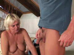 she leaves and he bangs very old blonde motherinlaw