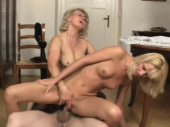 mature couple and blonde woman threesome orgy
