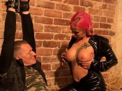big titted femdom mia is making prisoners for cunt pleasure