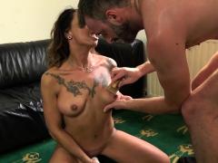 Toying milf submissive Jenna Joy throated
