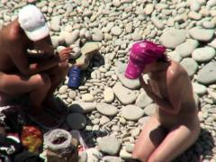 Nude Milf Shaved Pussy Beach Voyeur HD