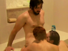 Hot swinger threesome on the shower!