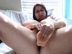Chubby Nerd Orgasms Hard On Cam