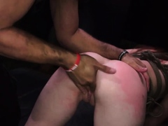 Bondage blowjob and hard fuck machine squirt Helpless