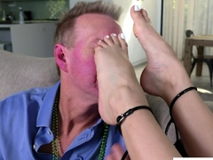 vanna bardot wants her stepdad to fuck her sexy feet