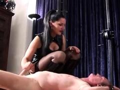 femdom handjob by hot mistress