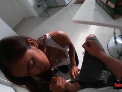 Amateur Asian teen girlfriend in a homemade porn video
