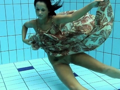 Krasula Fedorchuk hairy babe in the pool