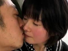 japanese asian slut masturbate and suck cock