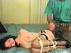 Masked bdsm fetish babe pierced clit teased by kinky babe