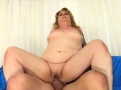 Golden Slut - Blonde Granny Riding Comp