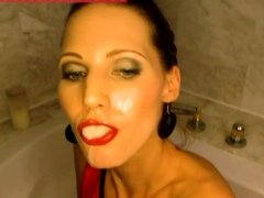 PISS AND CUM QUEEN VIKTORIA GOO EARNS HER CROWN IN BATH TUB