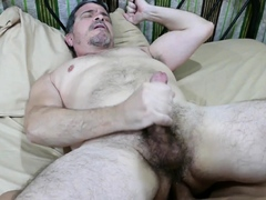 Mature daddy rimmed and banged by asian twink