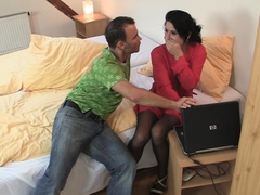 Young GF in nylons is rough punished for cheating