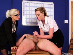 cfnm-office-babes-blackmail-and-suck-off-sub