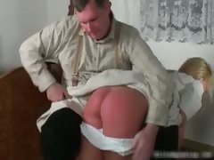 Naughty Blond Chick Gets Ass Spanked Part6
