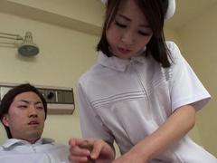 japanese-nurse-reina-wamatsu-rubs-dick-uncensored