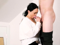 tutor4k. older girl gives a horny man more than just