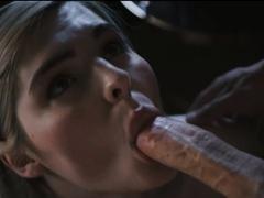 Dude watch TS Ella while sucking his dick