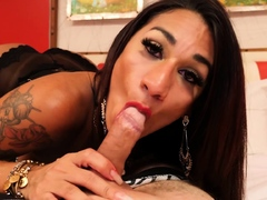 Horny big ass shemale fucked in ass