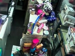 Str8 caught fucking on security camera in store