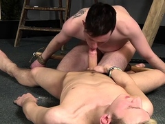 Guy feels pang and excitement whilst experiencing bdsm sex