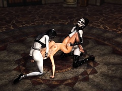 two-shemale-witches-play-with-a-hot-blonde-in-the-castle