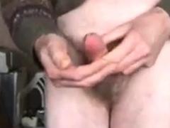 Grandad wanks and cums